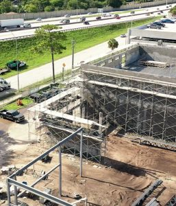 construction site in Tampa drone photo