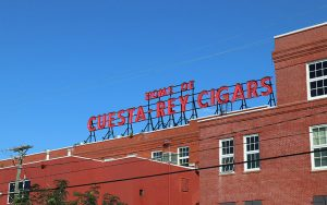 aerial photography of JC Newman Cigar Co in Ybor