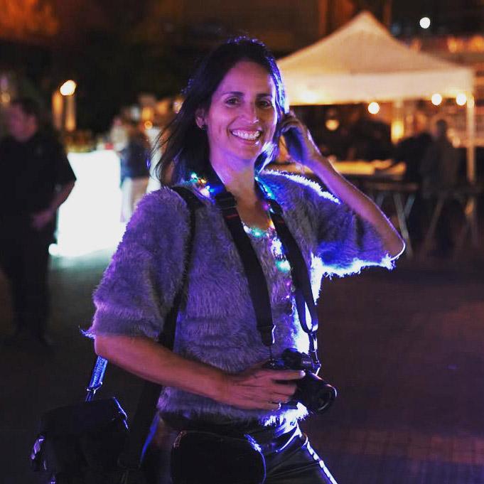 Patricia Filomeno photographer at work